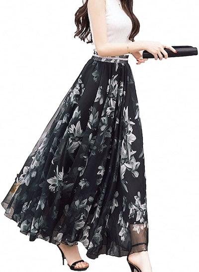 Afibi Chiffon Maxi Skirt