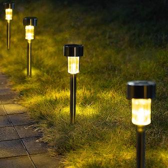 GIGALUMI Solar Pathway Lights (12-Pack)