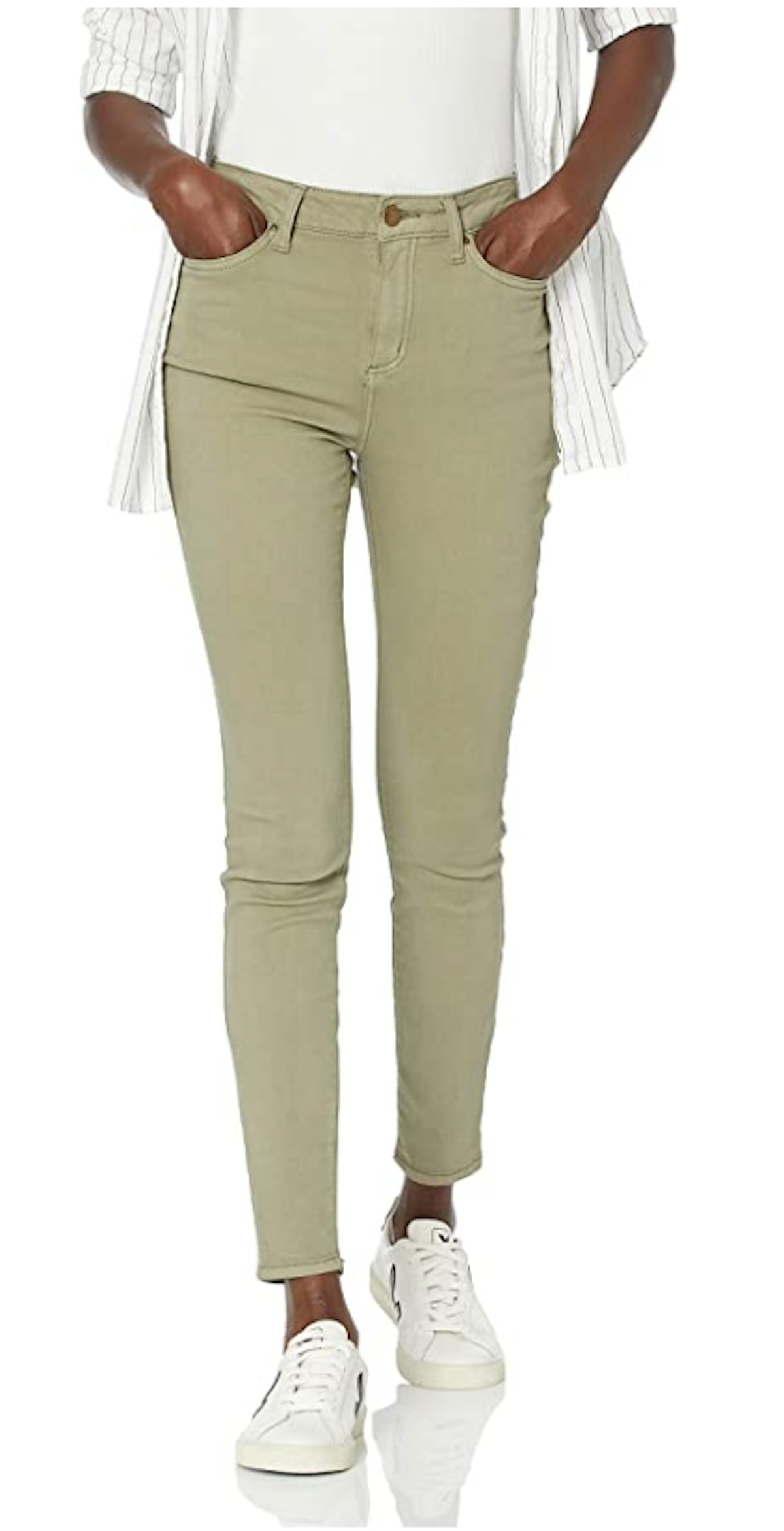Daily Ritual's high-rise colored skinny jeans.
