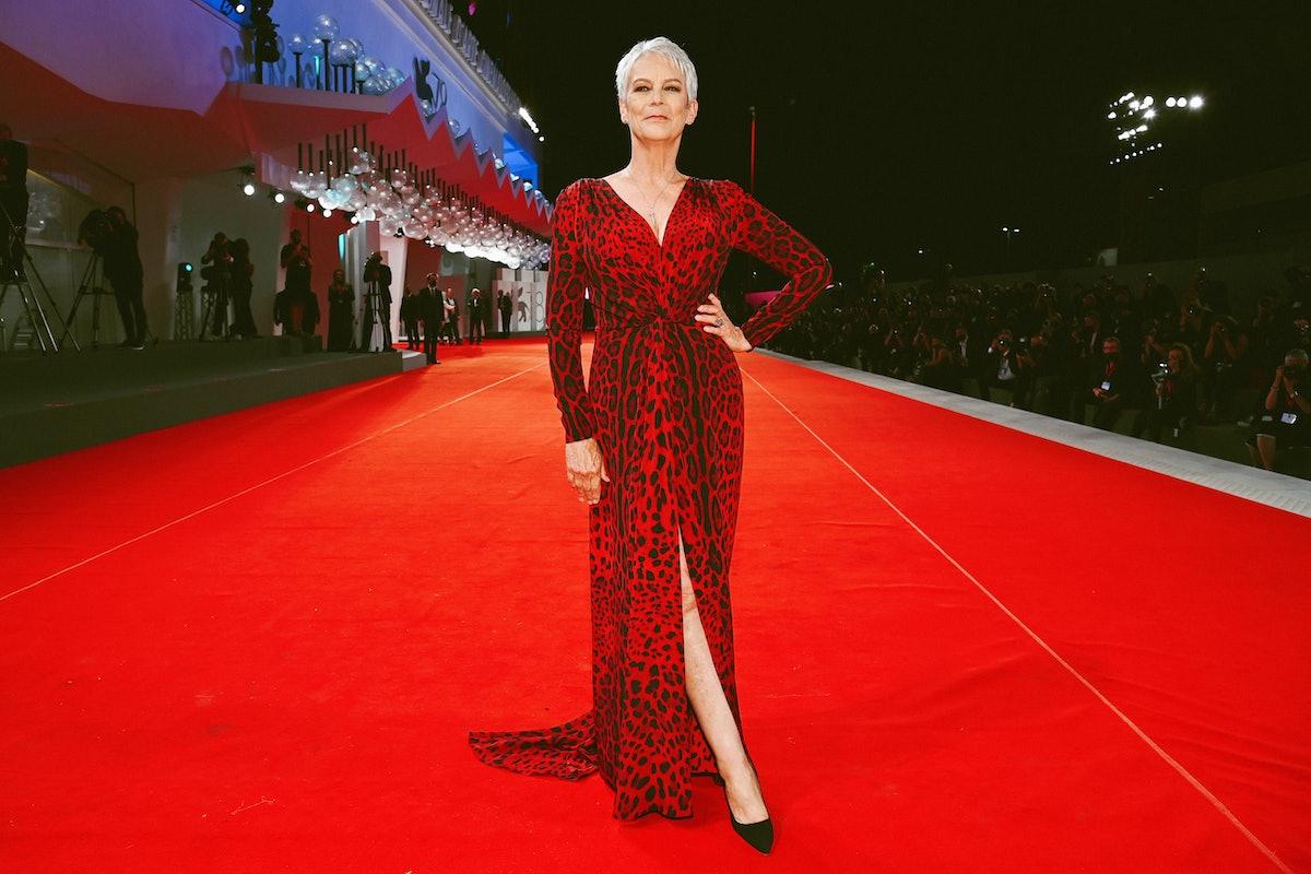 Jamie Lee Curtis on the Venice red carpet