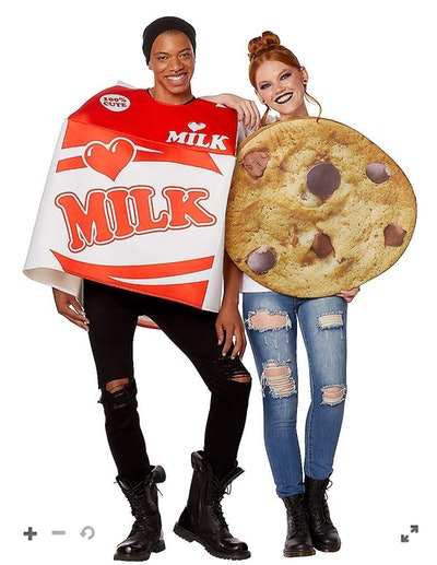 Adult Milk And Cookies Couples Costume