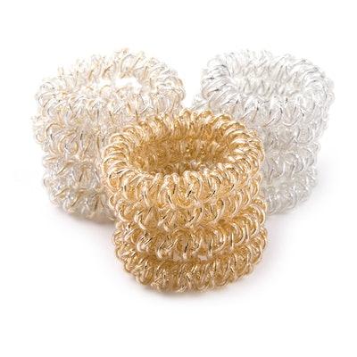 Yigou Metallic Spiral Hair Ties (12-Pack)