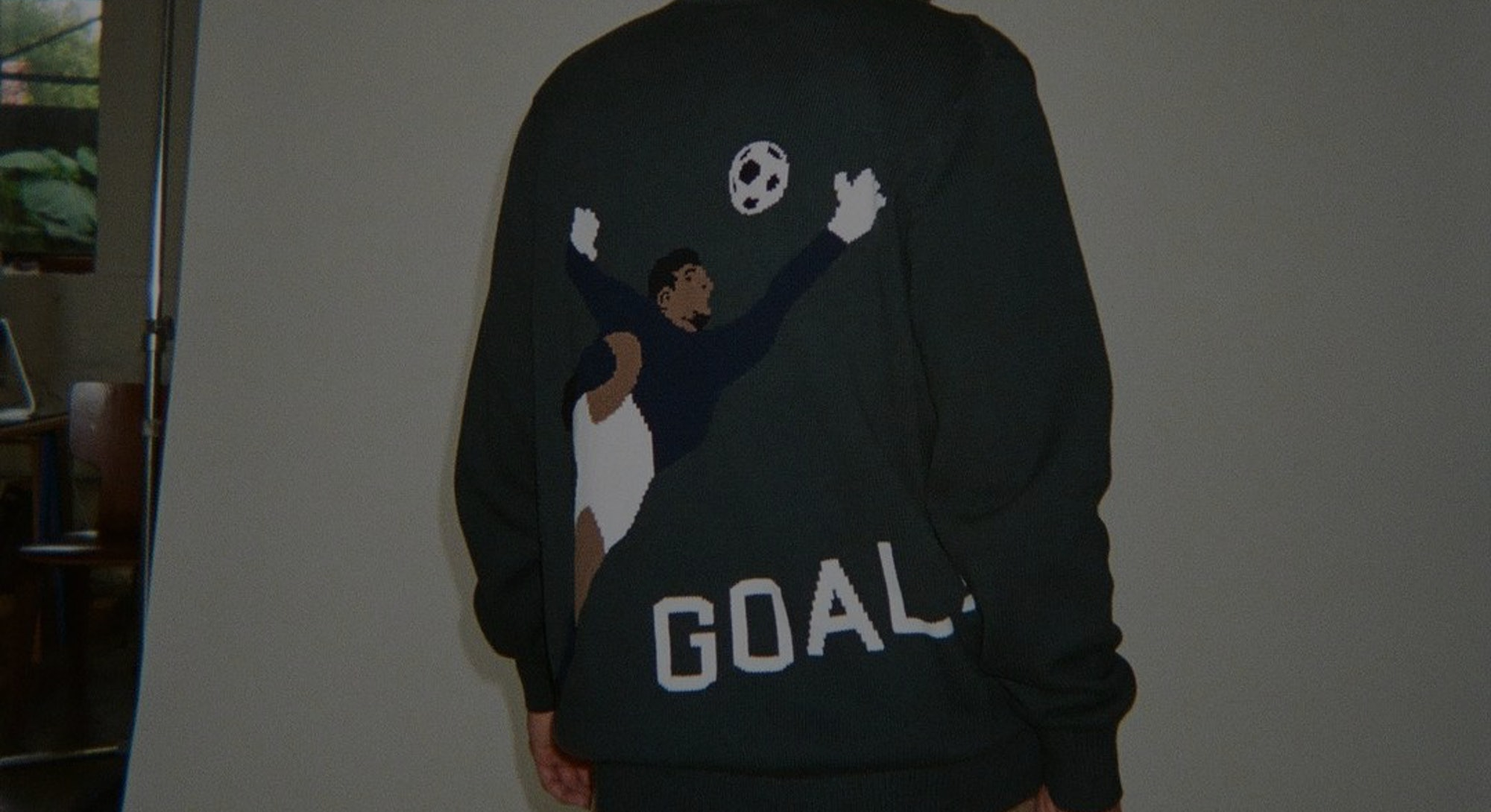 only ny soccer knit sweater