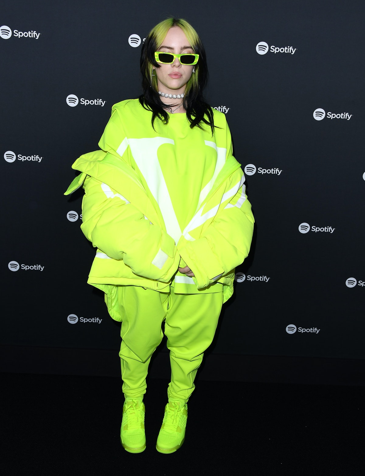Billie Eilish arrives at the Spotify Best New Artist 2020 Party at The Lot Studios on January 23, 20...