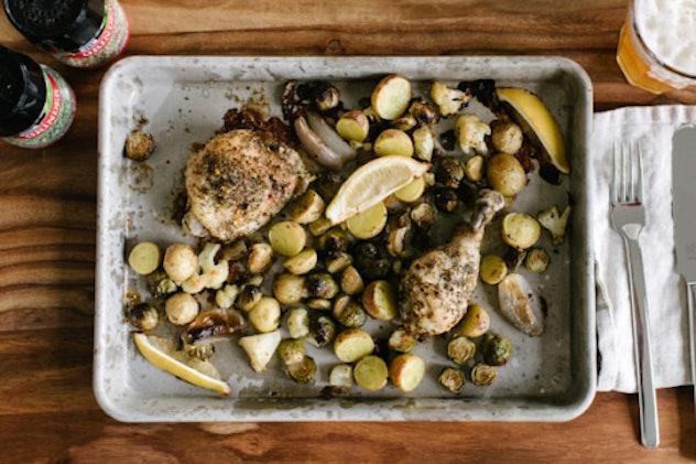 Sheet pan herb roasted chicken