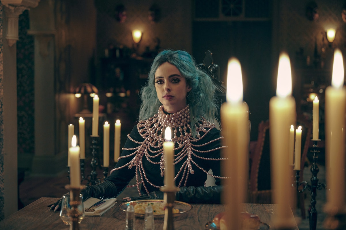 Krysten Ritter as Natacha in Netflix's new 2021 Halloween movie, Nightbooks