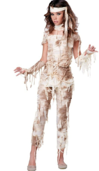 Girl dressed as mummy
