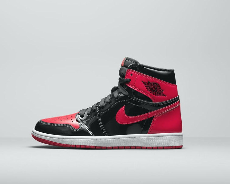 Nike's patent leather Jordan 1 'Bred' is dropping sooner than you ...