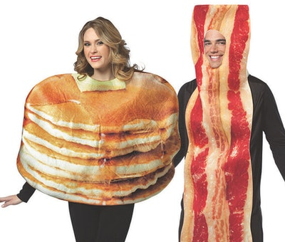Adult Pancakes & Bacon Couples Costume