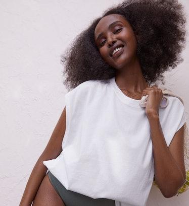 H&M White Jersey Sleeveless Top
