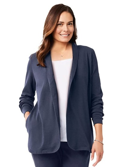 Woman Within Plus Size 7-Day Knit Jacket