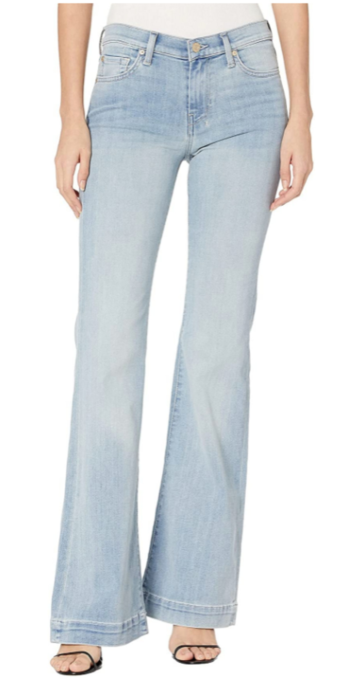 7 For All Mankind flare wide leg jeans.