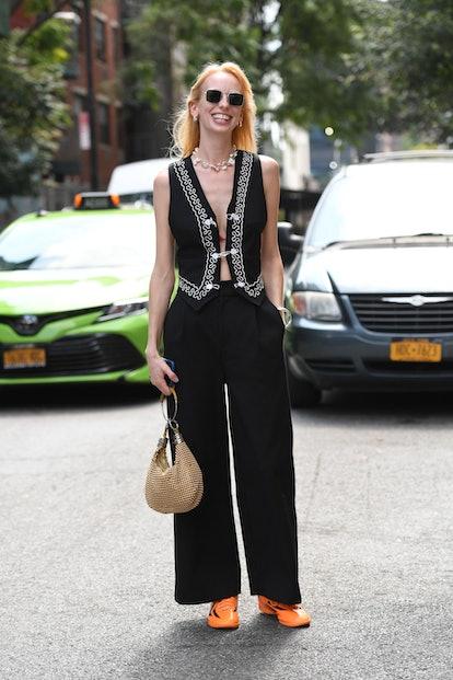 New York Fashion Week Spring 2022 street style.