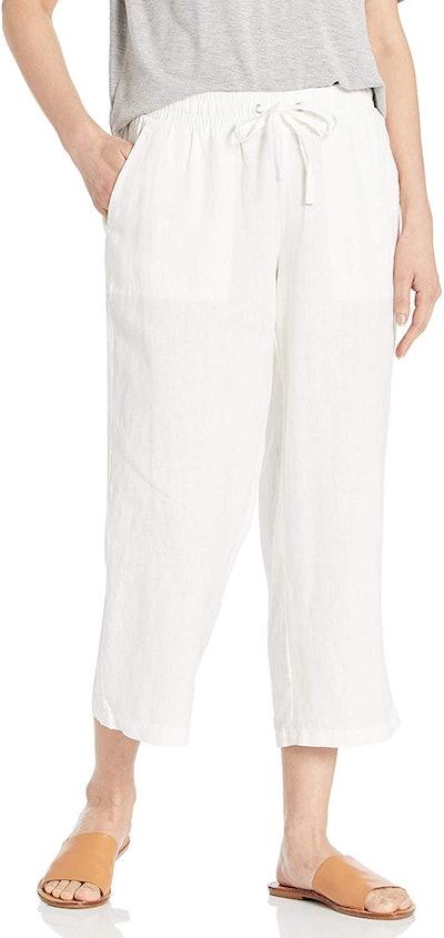 Amazon Essentials Drawstring Linen Crop Pant