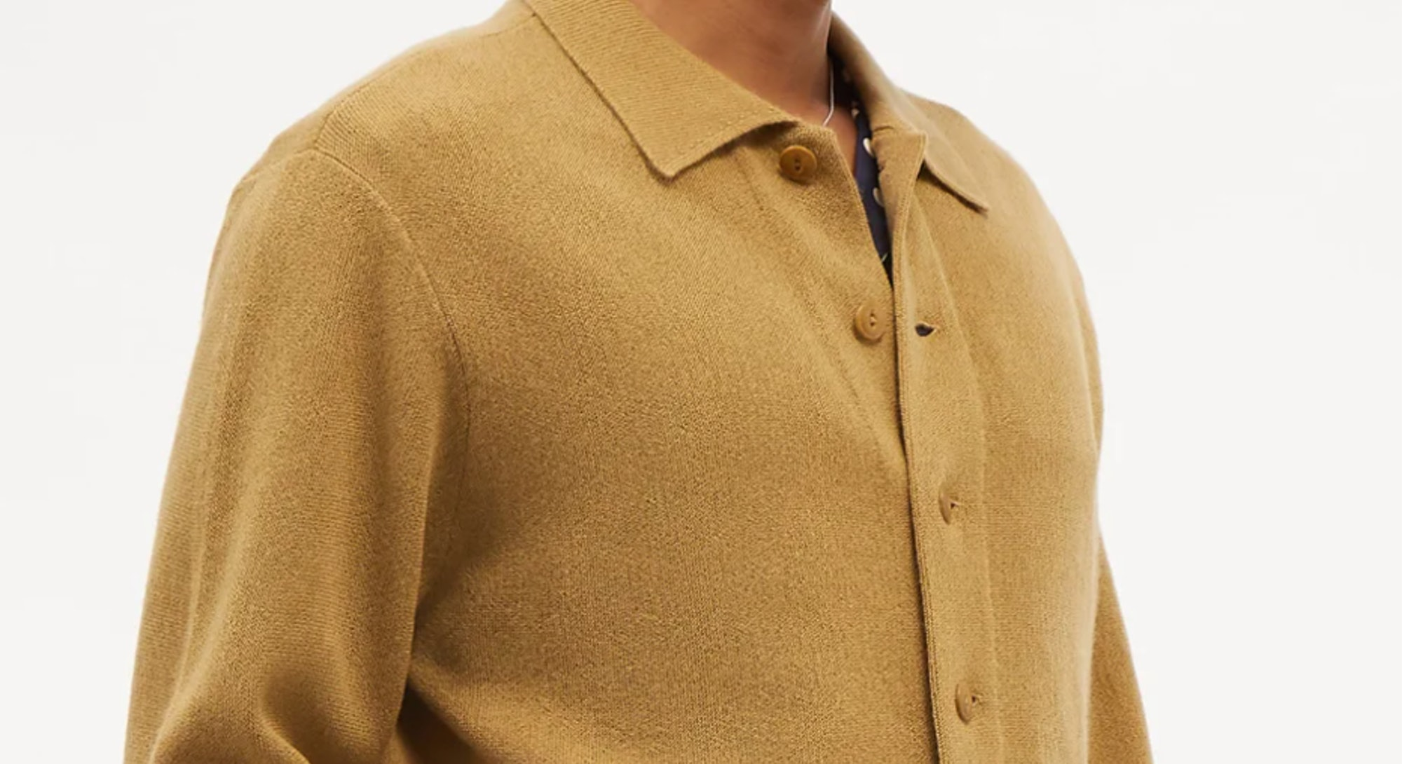 ymc collared knit cardigan