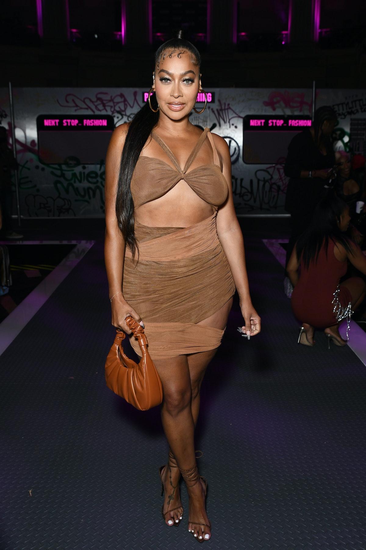 La La Anthony attends PrettyLittleThing: Teyana Taylor Collection II New York Fashion Week on Septem...