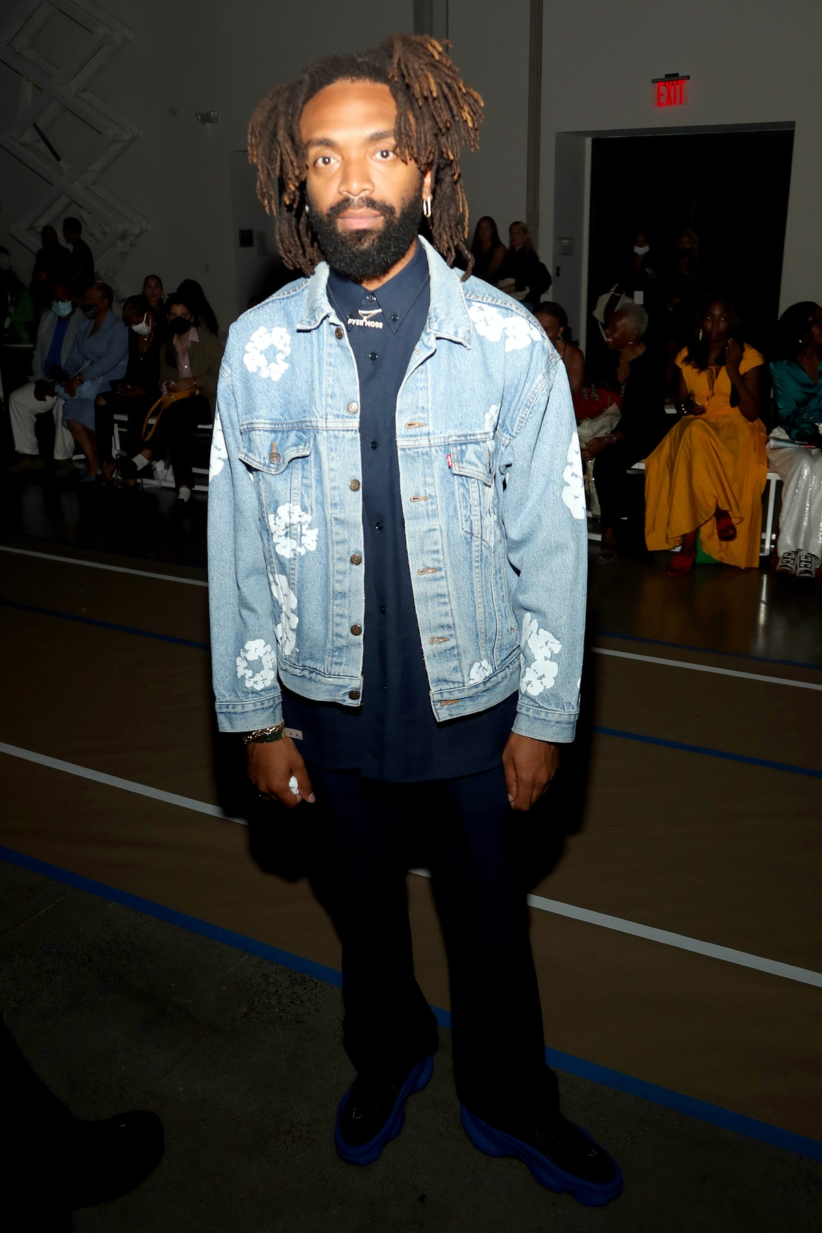 Kerby Jean-Raymond attends front row for Sergio Hudson SS22 during NYFW: The Shows at Gallery at Spr...