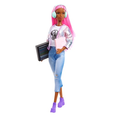 Barbie® Music Producer Doll (12-in), Colorful Pink Hair, Trendy Clothes & Accessories, 3 & Up