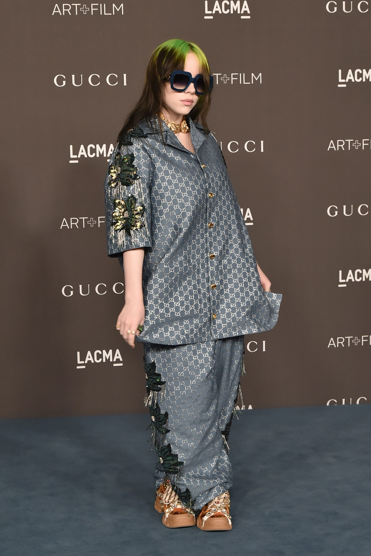 Billie Eilish attends the 2019 LACMA Art + Film Gala at LACMA on November 02, 2019 in Los Angeles, ...