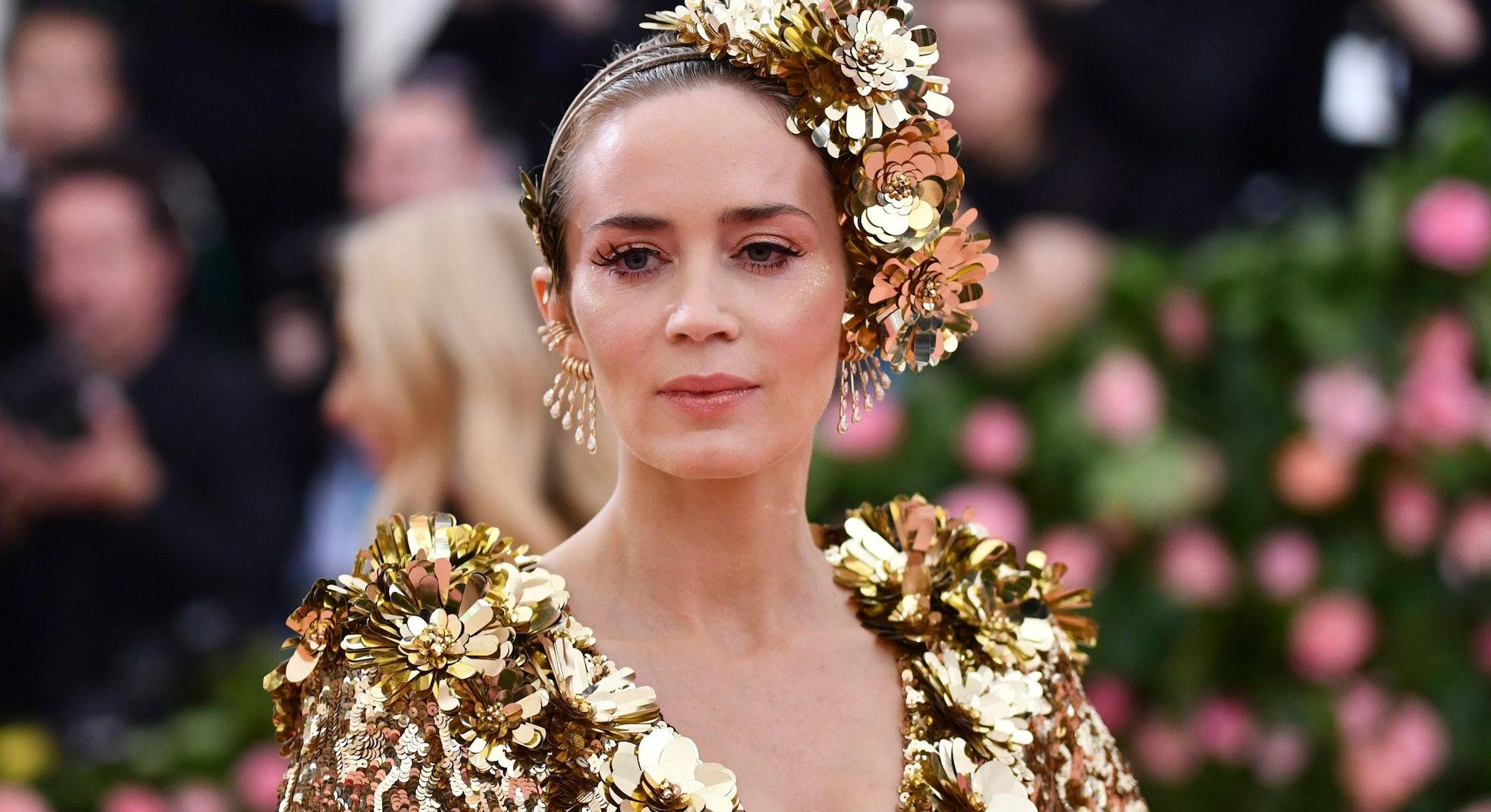Emily Blunt attends The Metropolitan Museum of Art's Costume Institute benefit gala in 2019.