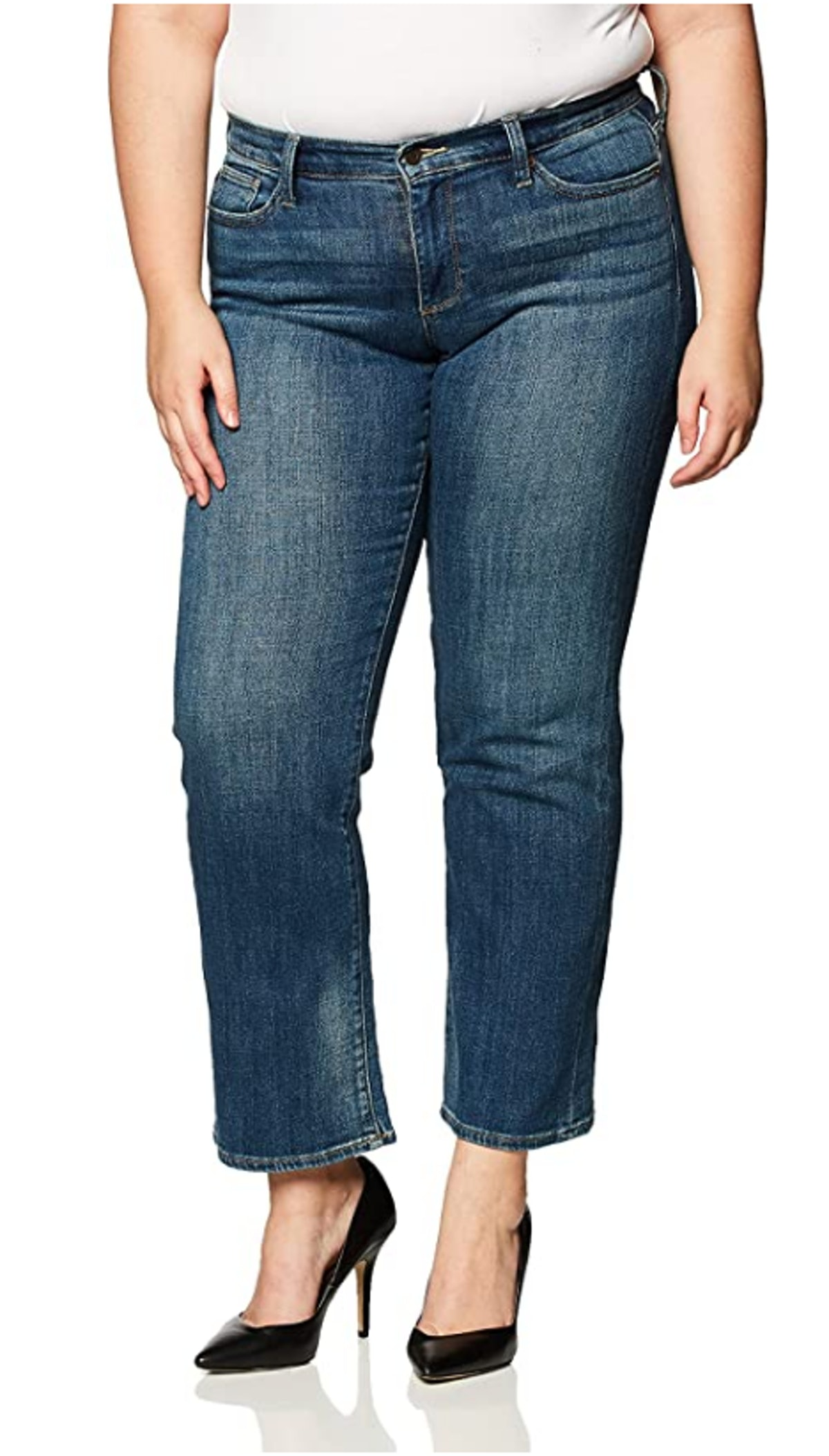 Lucky Brand mid-rise bootcut jeans.