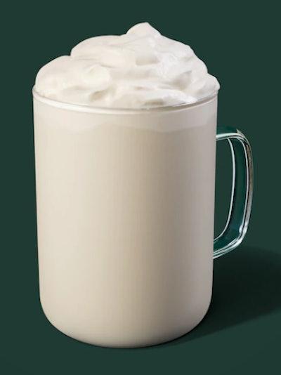 Image of Starbucks White Hot Chocolate drink.