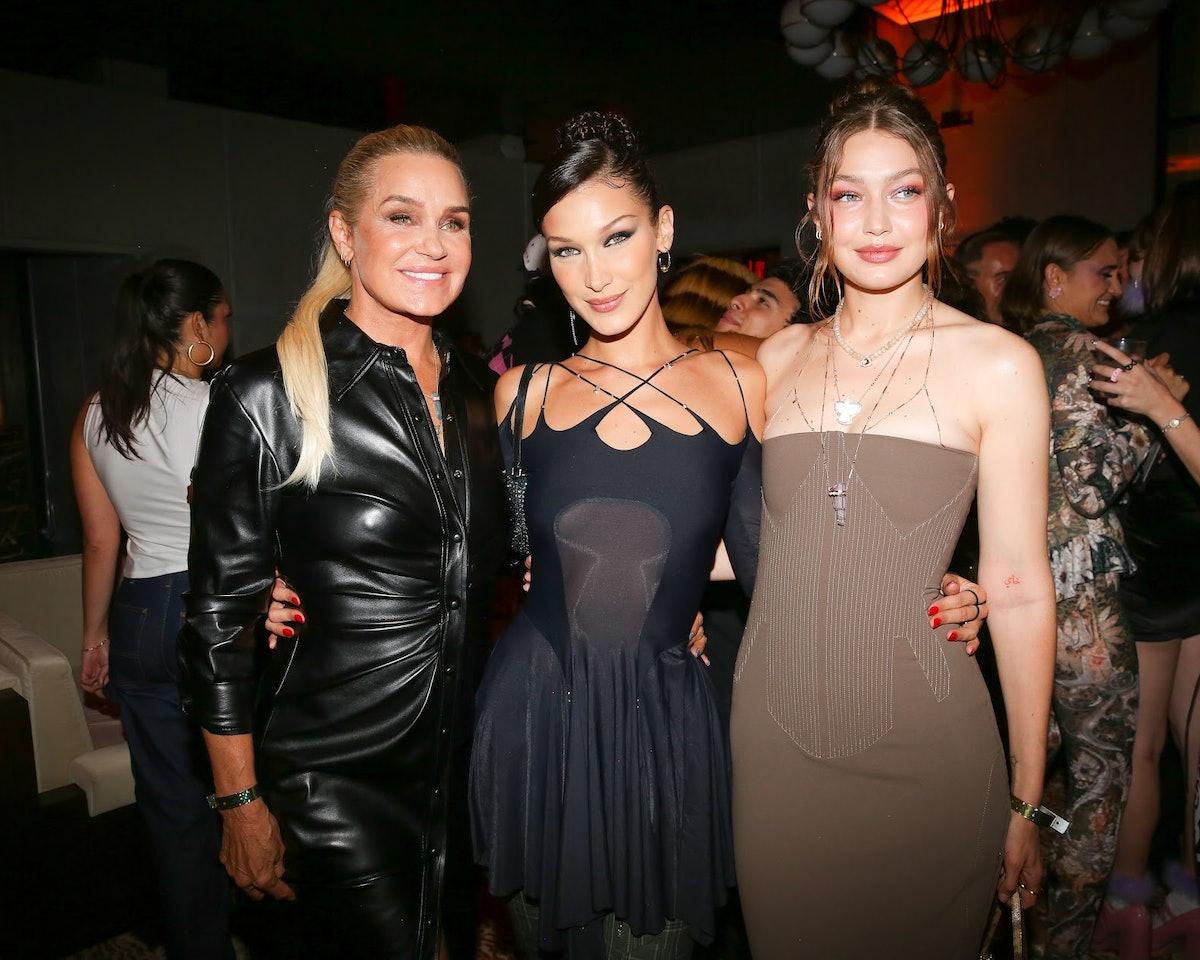 Bella, Yolanda and Gigi Hadid.