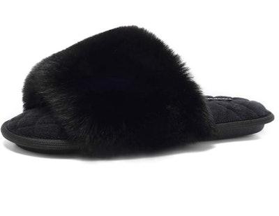 FANTURE Furry Faux Fur Slippers