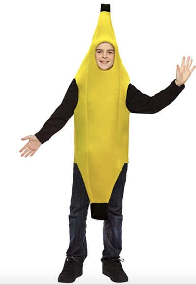 Teen dressed as a banana