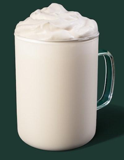 Image of Starbucks hot Vanilla Creme drink.