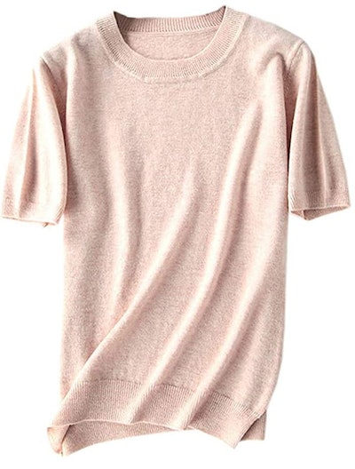DAIMIDY Short Sleeve Cashmere Blend Top