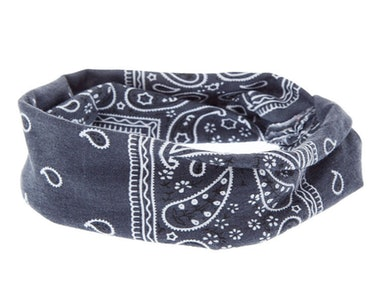 Claire's Charcoal Bandana Twisted Headwrap