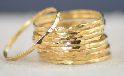 Alari Super Thin 14k Gold Filled Stackable Rings