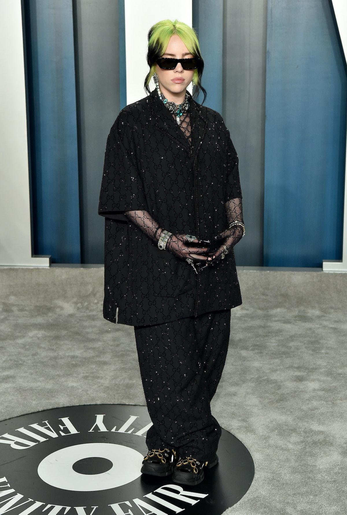 Billie Eilish attends the 2020 Vanity Fair Oscar Party hosted by Radhika Jones at Wallis Annenberg C...
