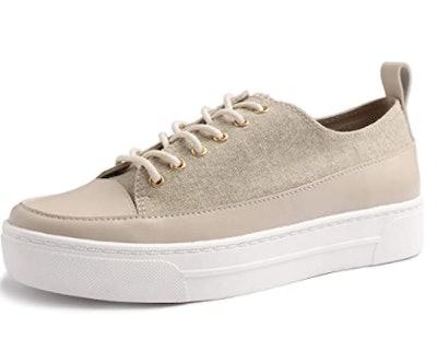 Feversole PU Lace-Up Sneaker