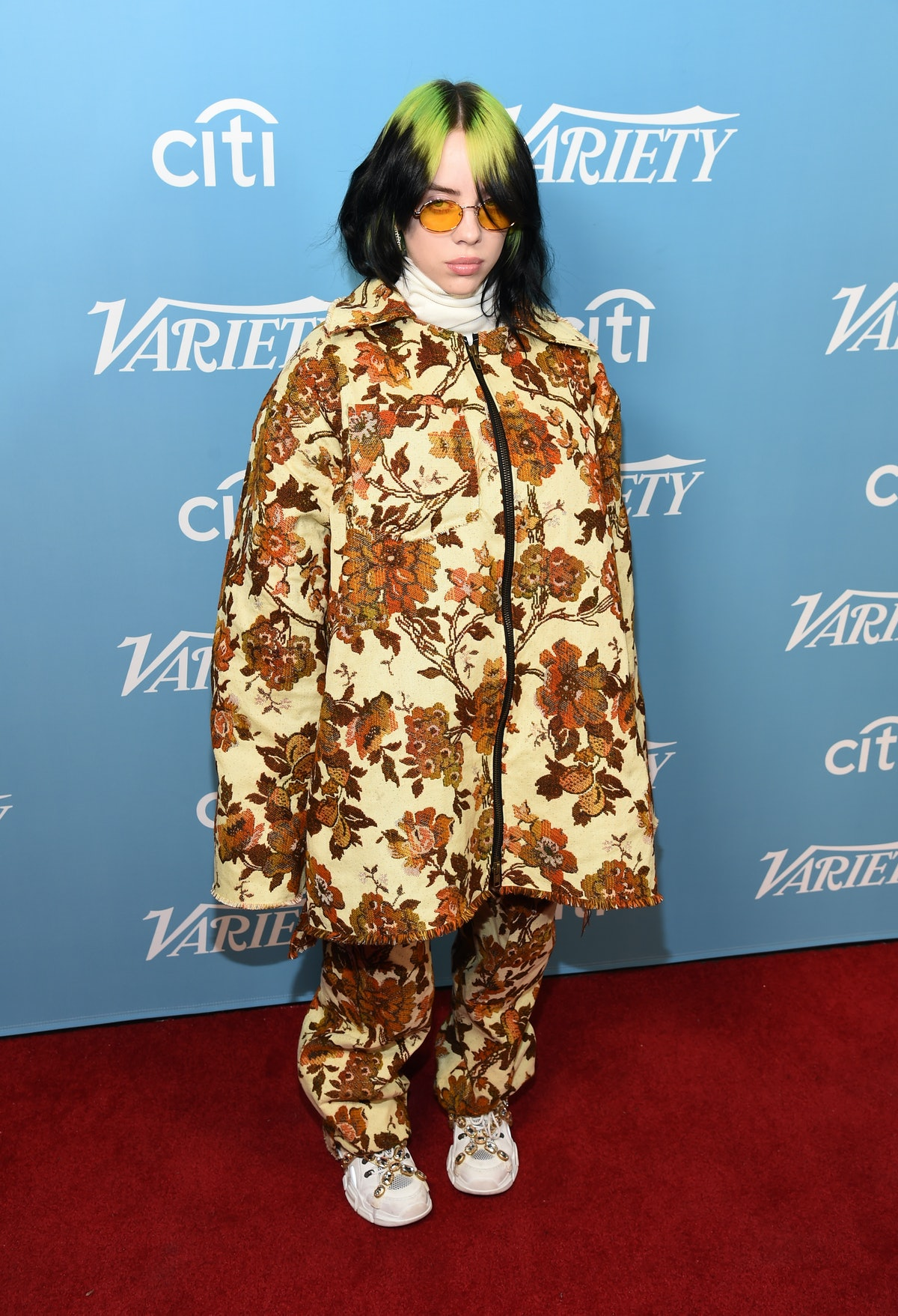 Billie Eilish arrives at the 2019 Variety's Hitmakers Brunch at Soho House on December 07, 2019 in W...