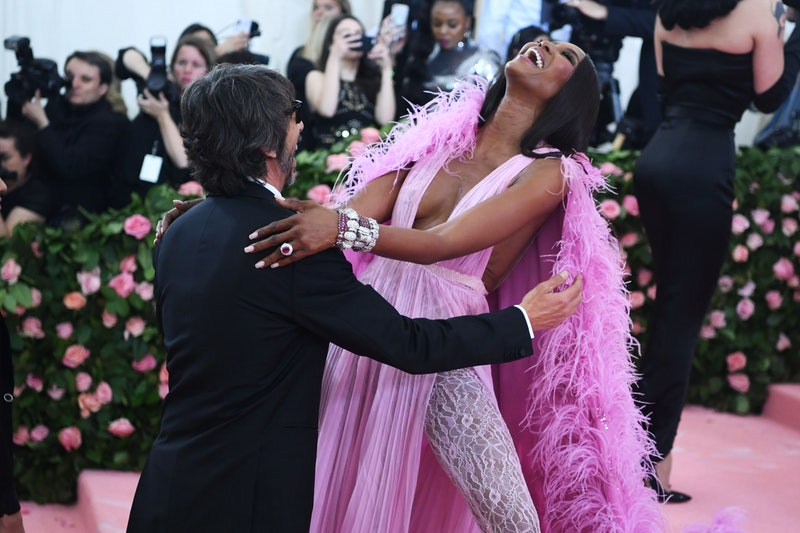 Naomi Campbell & Pierpaolo Piccioli at the 2019 Met Gala.