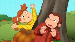 still from Curious George Halloween movie