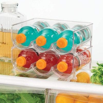 mDesign Stackable Water Bottle Rack