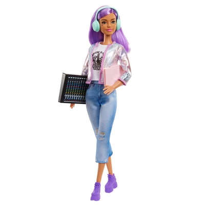 Barbie® Music Producer Doll (12-in), Colorful Purple Hair, Trendy Clothes & Accessories, 3 & Up