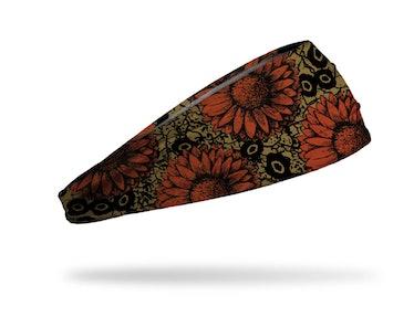 JUNK Orange and Brown Dead Flowers Headband