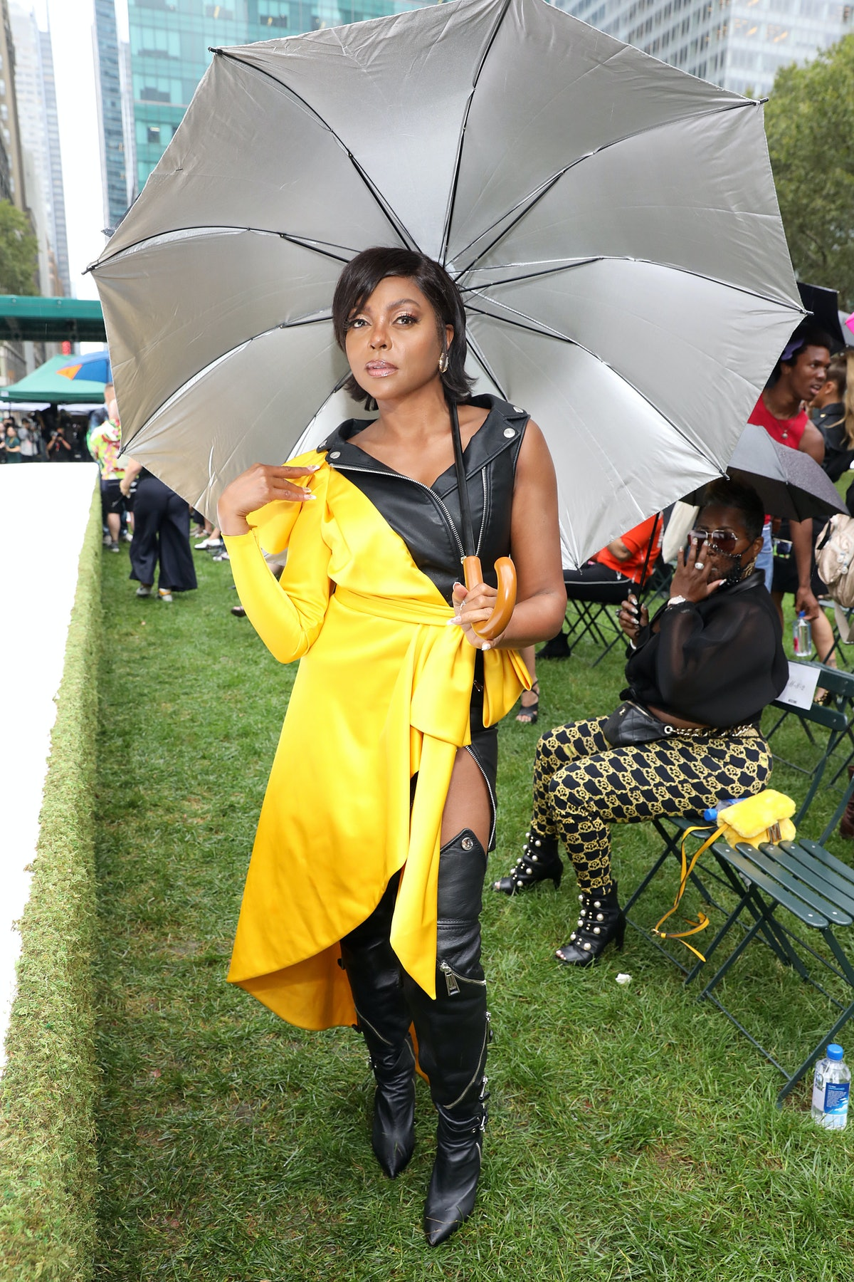 Taraji P. Henson attends the Moschino SS22 show on September 09, 2021 in New York City.