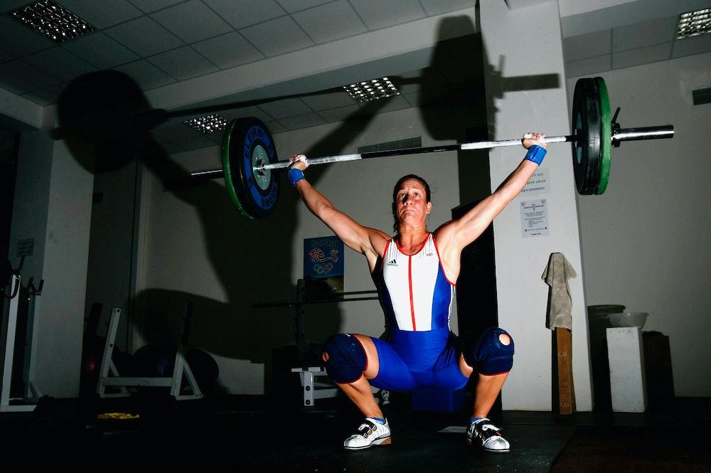 squat, lift