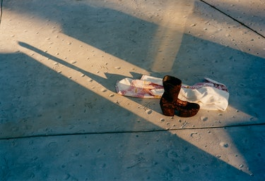 Prada boots.