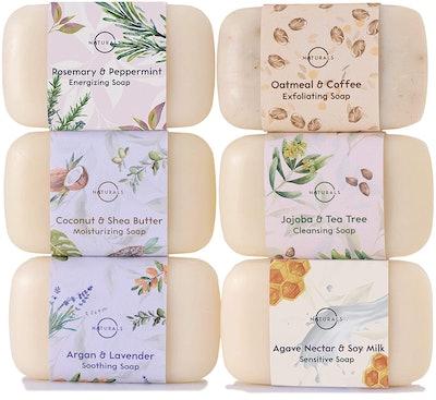 O Naturals Moisturizing Body Wash Bar Soap Collection (6-Piece)