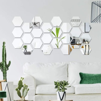 Shappy Mirror Wall Stickers (Set of 32)
