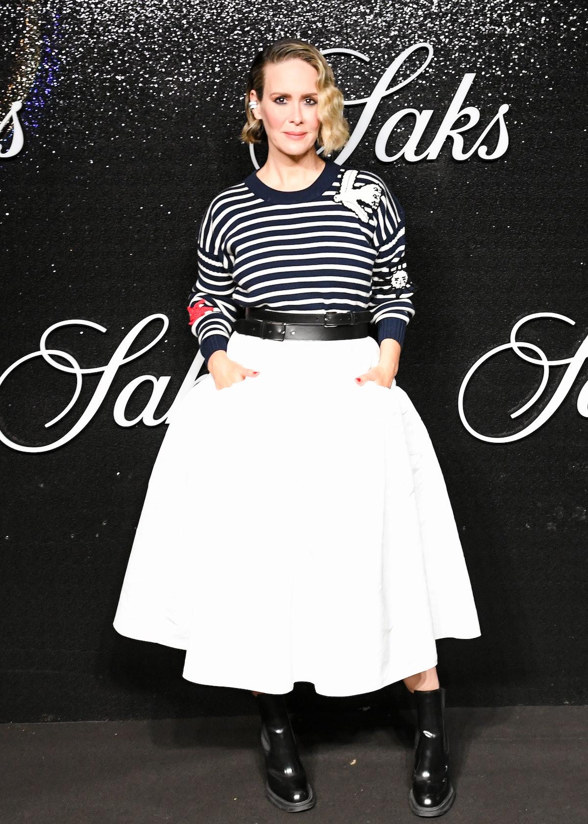 Sarah Paulson at Saks NYFW Party in September 2021.