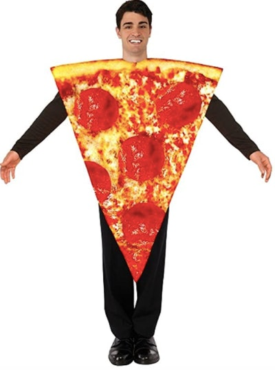 Teen dressed as a slice of pizza