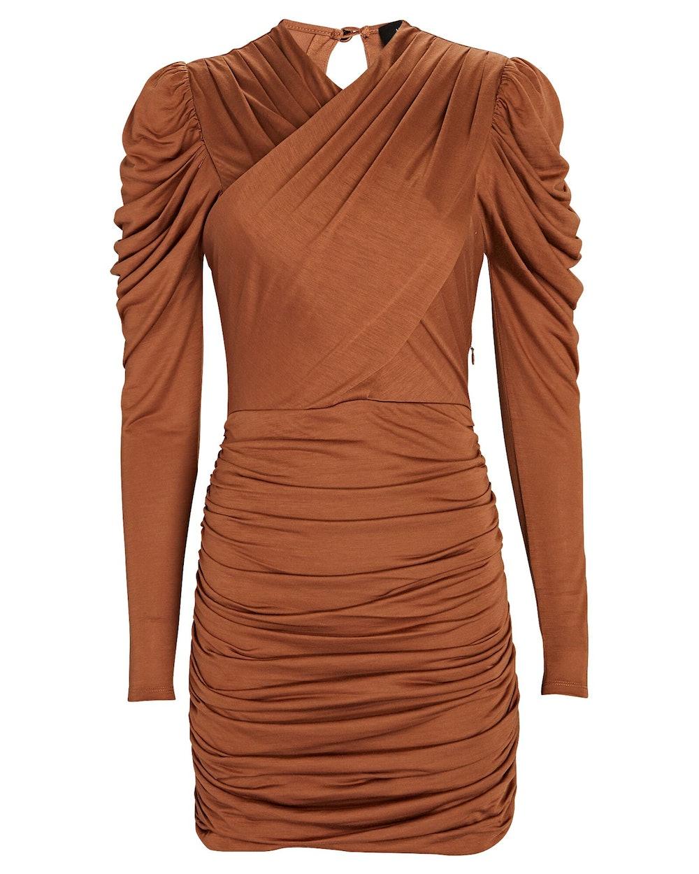 Jasmine Ruched Jersey Mini Dress