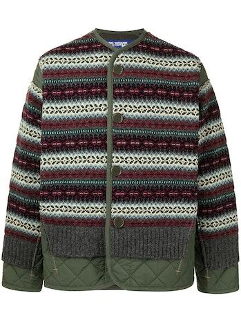 Junya Wantanabe Man Wool-Paneled Bomber Jacket
